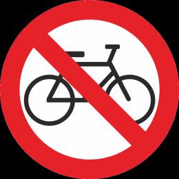 Zabraneno za velosipedi