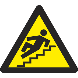 Vnimanie opasnost ot padane