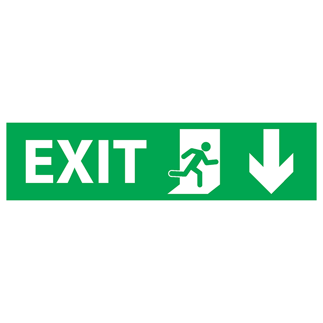 Exit down-right