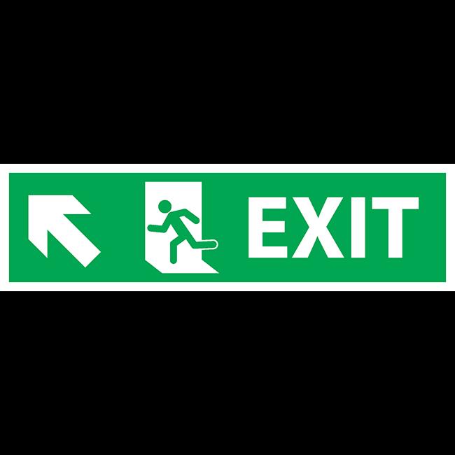Exit top-left