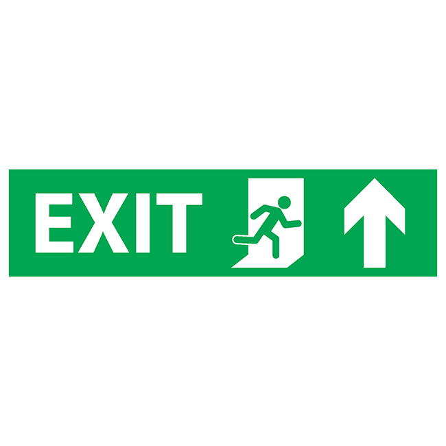 Exit up-right