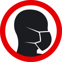 Sticker wear a face mask