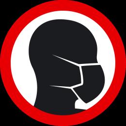 Sticker wear a face mask