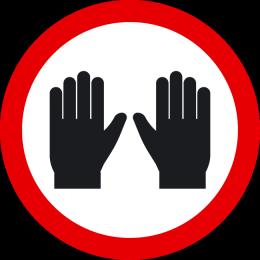 Sticker wear gloves