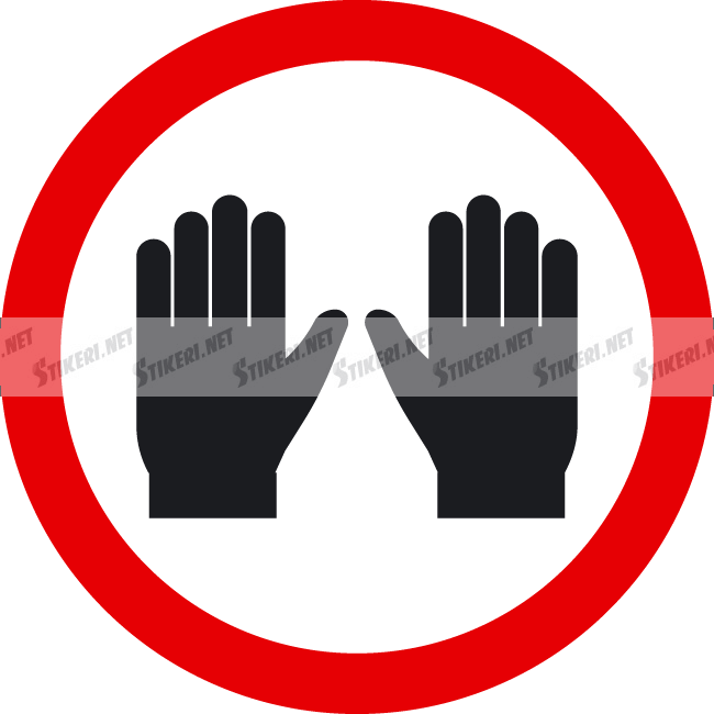 Sticker wear gloves