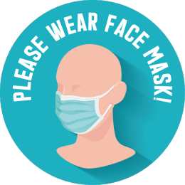 Sticker please wear a face mask