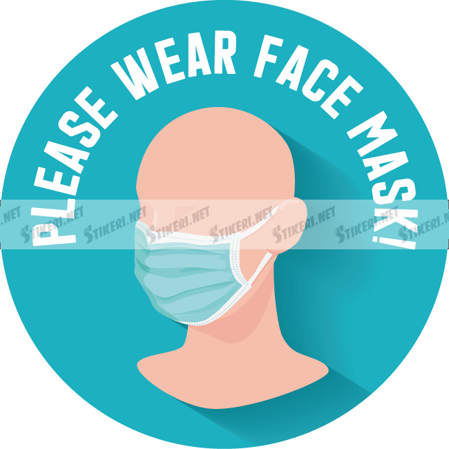 Sticker please wear a face mask