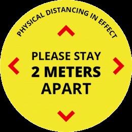 floor decal stay two meters apart