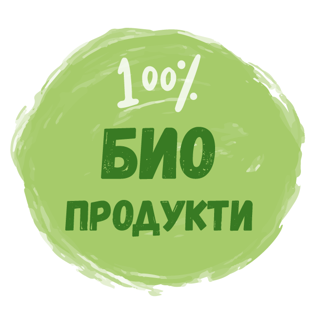 Стикер Био продукти