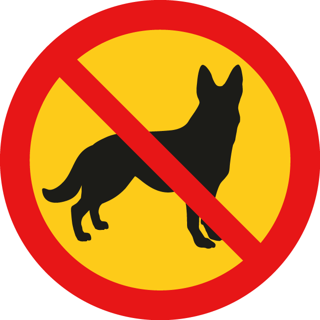 Стикер забранено за кучета