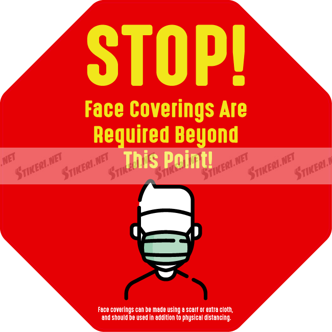 Sticker stop mask