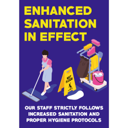 Sticker enhanced sanitation