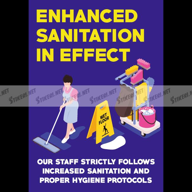 Sticker enhanced sanitation