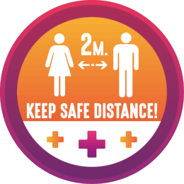 floor decal keep safe distance