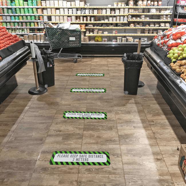Стикер за под пазете 2 метра дистанция