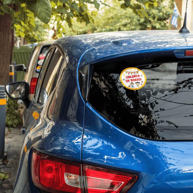 Стикер за кола внимание деца