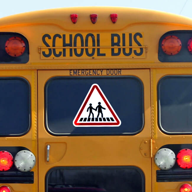 Стикер за автобус внимание деца