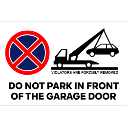 Sign do not park