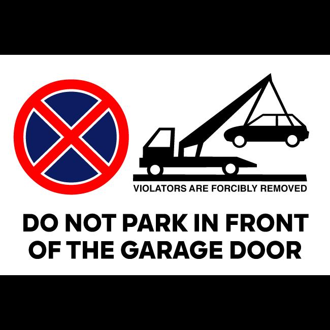Sign do not park