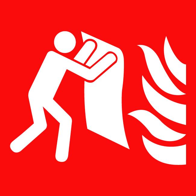 Sign fire blanket