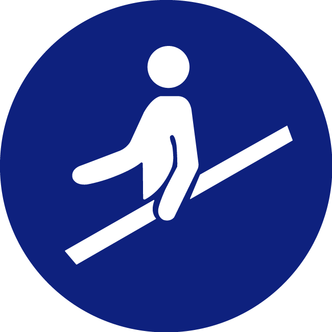 Use-the-safety-railing