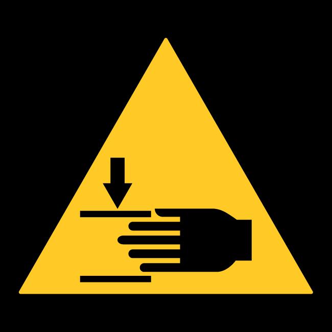 Danger-of-crushing-on-hands!