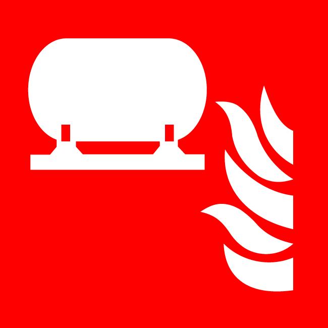 Stationary fire extinguishing installation