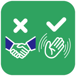 Sticker without hand contact