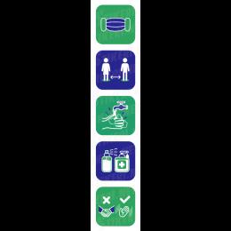 multi-informational sticker covid